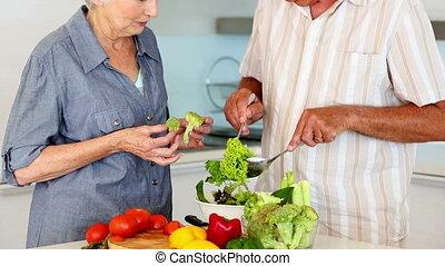 couples aînés, s, sain, préparer