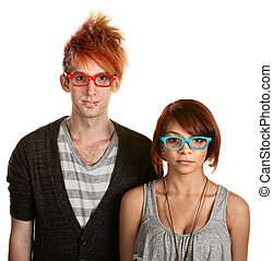 couples adolescence, lunettes