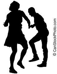 couples, di, sport, ballerini