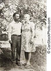 couples, fotografia vintage, vecchio, amore