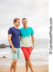couples gais, plage