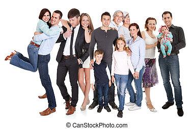 couples, gosses, familles, plusieurs