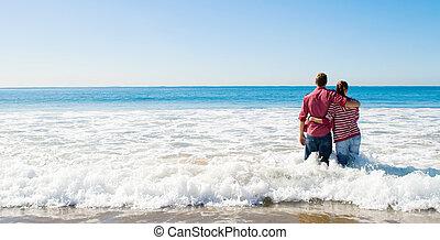 couples plage