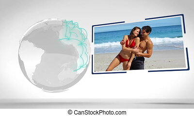 Couples videos with an Earth image