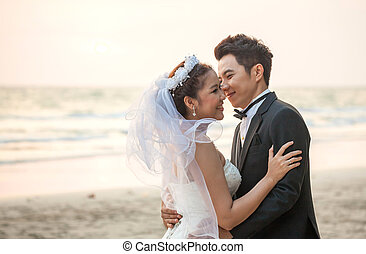 Couples Wedding beach sunset