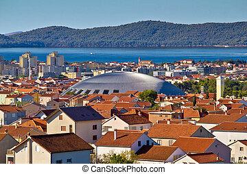 Coupola sports hall landmark in Zadar - Coupola hall...