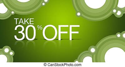 coupon, aus, nehmen, 30%