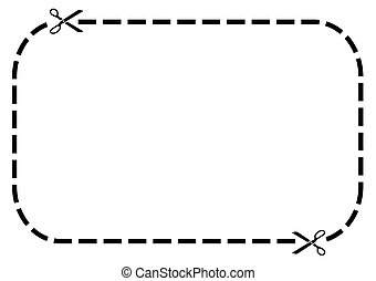 Blank coupon border