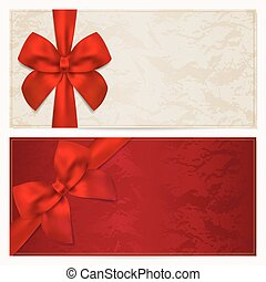 coupon, (bow), bon, certificat don