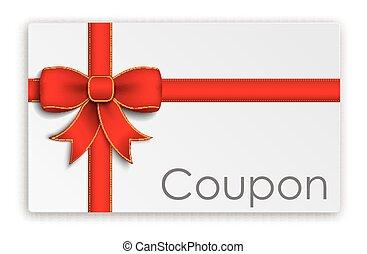Coupon Card Red Ribbon