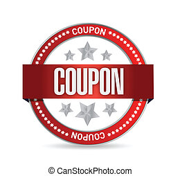 coupon, conception, illustration, cachet