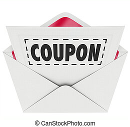 Coupon Envelope Cut Out Dotted Line Special Offer Sale -...