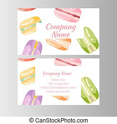 Coupon for a bakery shop sweet macaroons
