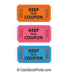Illustration of a coupon isolated on a white background