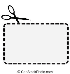 Illustration of a coupon with a dotted line for cutting