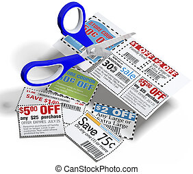 Coupon scissors cut out sale coupons - Coupon cutting...