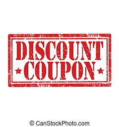 coupon-stamp, desconto