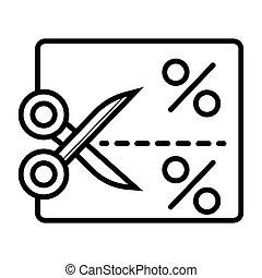 Coupon vector icon