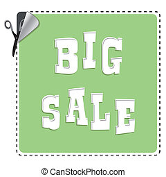 coupon with scissors, Big Sale