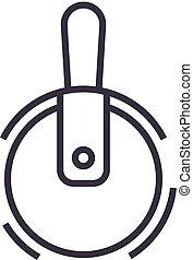 coups, editable, illustration, signe, vecteur, icône, ligne, coupeur, fond, pizza