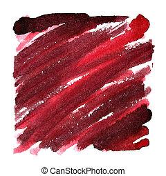 coups, sombre, oblique, arrière-plan rouge