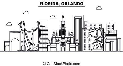 coups, vues, conception, floride, cityscape, paysage, ...