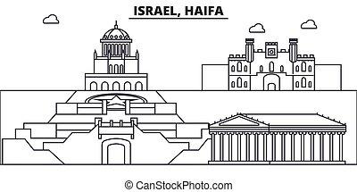 coups, vues, haïfa, conception, israël, cityscape, paysage, ...