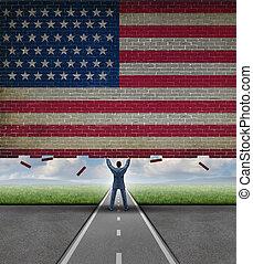 coupure, américain, marché