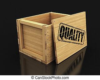coupure, bois, image, caisse, timbre, quality., sentier