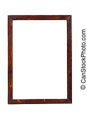 coupure, bois, image, isolé, sentier, blanc, cadre