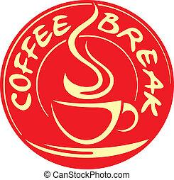 coupure, café, étiquette