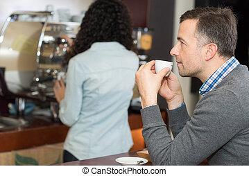 coupure, café, avoir