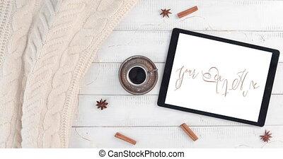 coupure, café, chaud