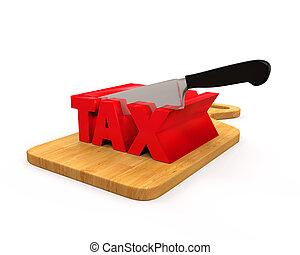 coupure, concept, impôt