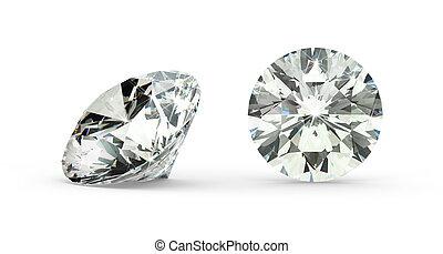 coupure, diamant, rond