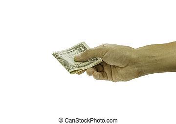 coupure, envoyé, argent, hommes, prîmes, main, images, path.