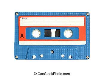 coupure, isolé, bande, sentier, blanc, cassette