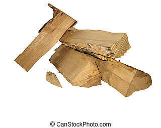 coupure, journaux bord, brûler, sur, isolé, bois, blanc