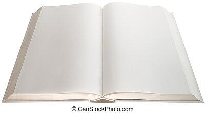 coupure, pages, vide