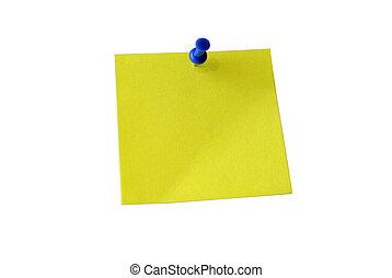 coupure, paper., note collante jaune, note., path.
