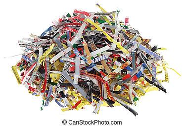 coupure, papier, bandes