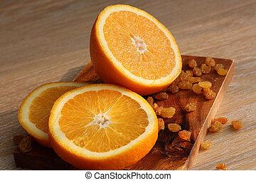 coupure, planche, orange, découpage