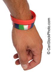 coupure, poignet, wristbands, charité