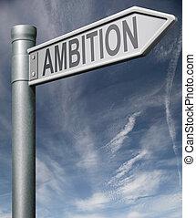 coupure, signe, flèche, ambition, sentier, route