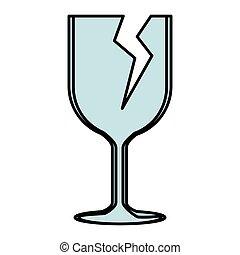coupure, symbole, fragile, tasse