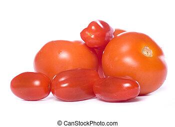 coupure, tas, tomates