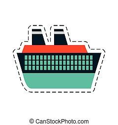 coupure, voyage, maritime, croisière, ligne, bateau