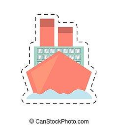 coupure, voyage, océan vacances, bateau croisière, ligne