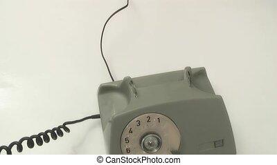 coupures, fil, téléphone, offenseur