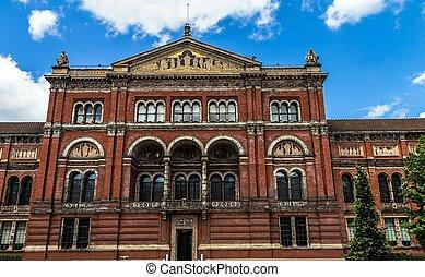 cour, musée, royaume-uni, london., v&a